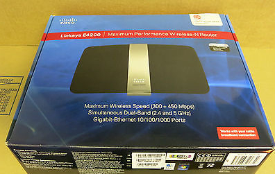 Cisco Linksys E4200 Maximum Performance Dual-Band Wireless N Repeater Router